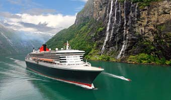 Queen Mary in a Norwegian Fjord