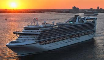 Carribean Princess at sunset