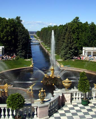 View from Peterhof Palace, St Petersburg, Russia